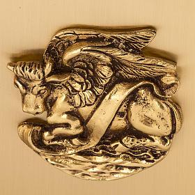 Tabernacolo da mensa in ottone simboli Evangelisti s6