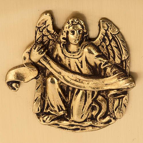 Tabernacolo da mensa in ottone simboli Evangelisti 4