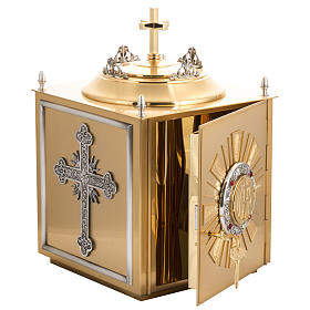 Altar Tabernacle in brass with small windows s9