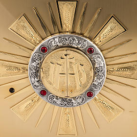 Tabernacolo da altare in ottone con finestrelle s2