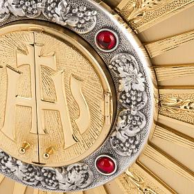 Tabernacolo da altare in ottone con finestrelle s3
