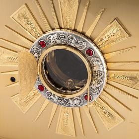 Tabernacolo da altare in ottone con finestrelle s5