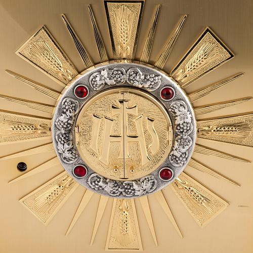 Tabernacolo da altare in ottone con finestrelle 2