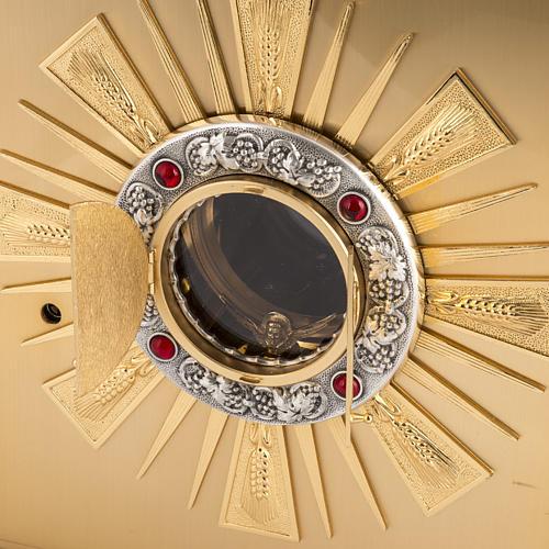 Tabernacolo da altare in ottone con finestrelle 5