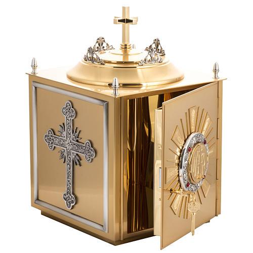 Tabernacolo da altare in ottone con finestrelle 9