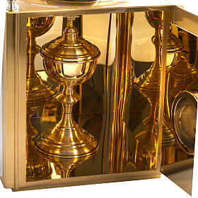 Altar Tabernacle in brass with small windows s7