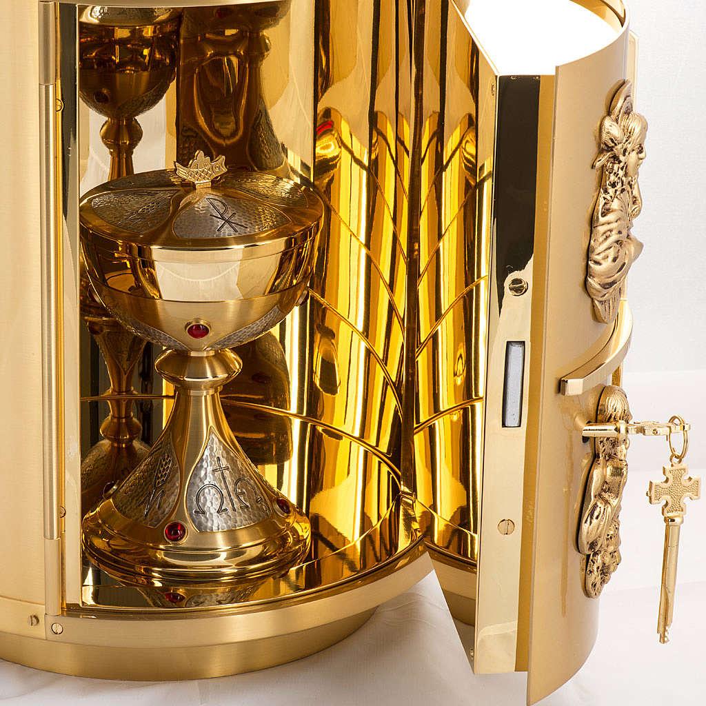 Sagrario de altar latón 4 Evangelistas forma redondeada 4