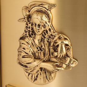 Sagrario de altar latón 4 Evangelistas forma redondeada s2