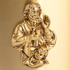 Sagrario de altar latón 4 Evangelistas forma redondeada s3