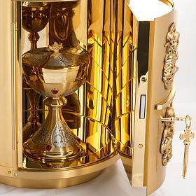 Sagrario de altar latón 4 Evangelistas forma redondeada s9