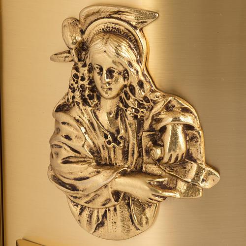 Sagrario de altar latón 4 Evangelistas forma redondeada 2