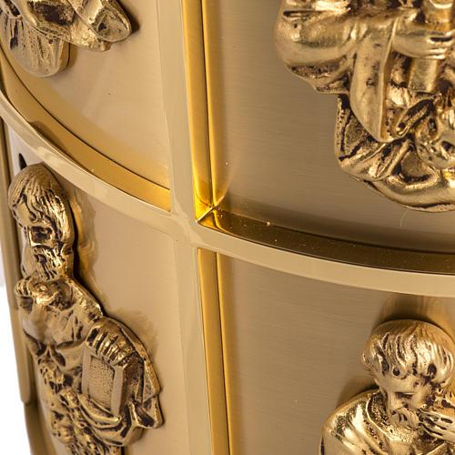 Sagrario de altar latón 4 Evangelistas forma redondeada 6