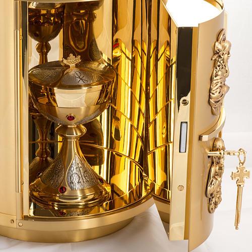 Sagrario de altar latón 4 Evangelistas forma redondeada 9