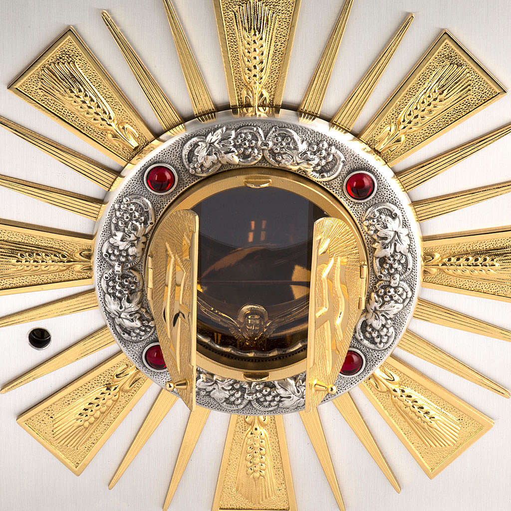 Altar Tabernacle in cast bronze with windows for adoration 4