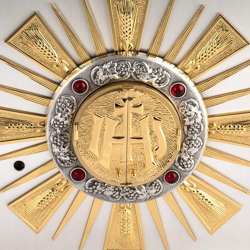 Sagrario de altar en bronce fundido ventana  adoración 2