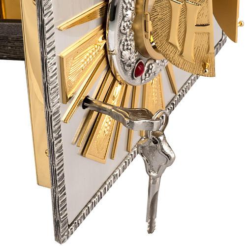 Sagrario de altar en bronce fundido ventana  adoración 5