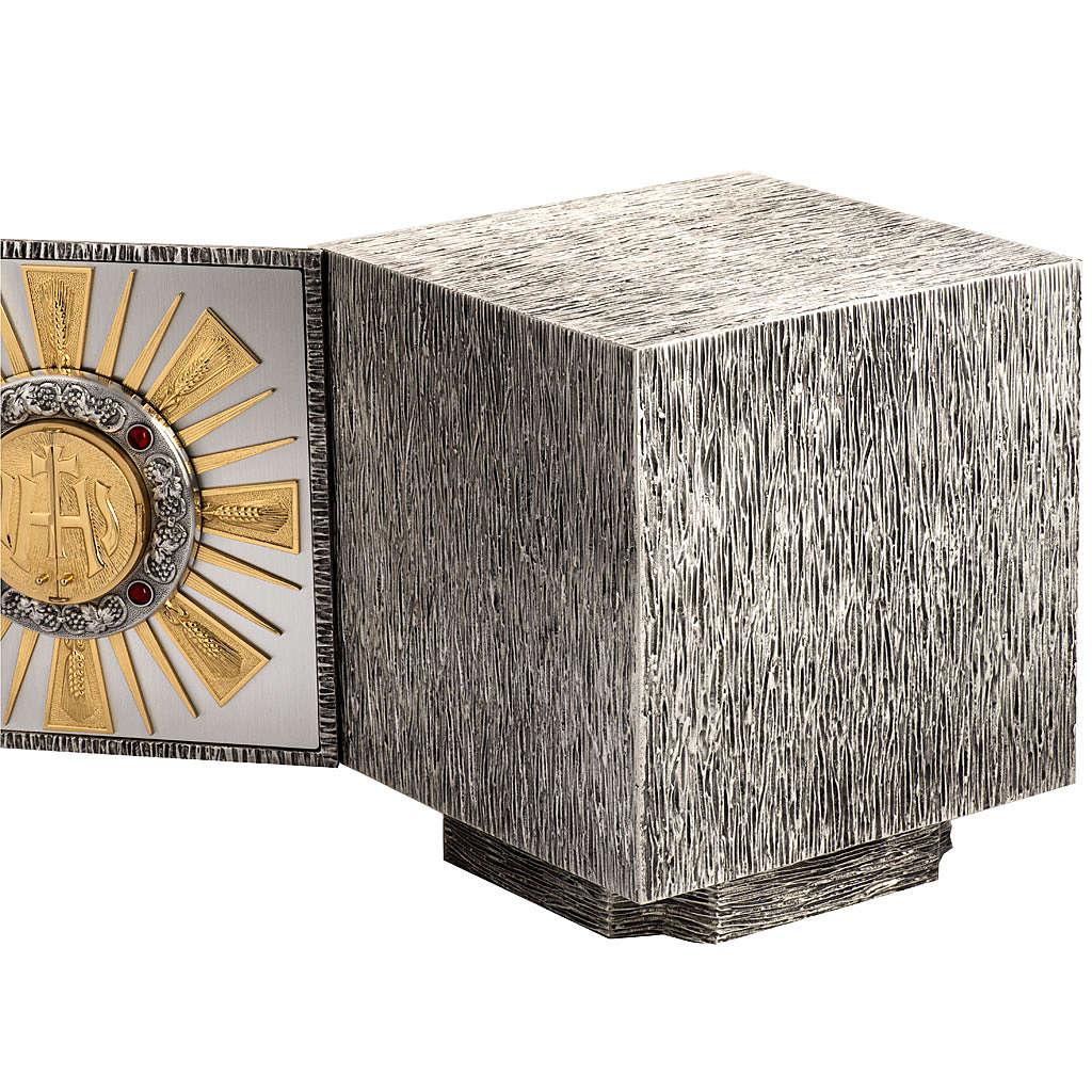 Tabernacolo da altare in bronzo fuso finestrelle per adorazione 4