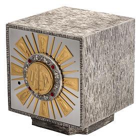 Tabernacolo da altare in bronzo fuso finestrelle per adorazione s1