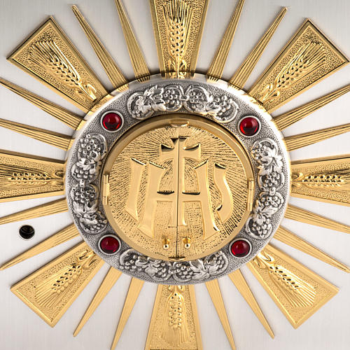 Tabernacolo da altare in bronzo fuso finestrelle per adorazione 2