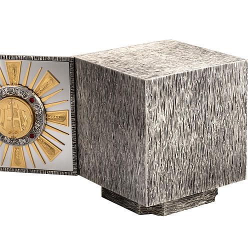 Tabernacolo da altare in bronzo fuso finestrelle per adorazione 6