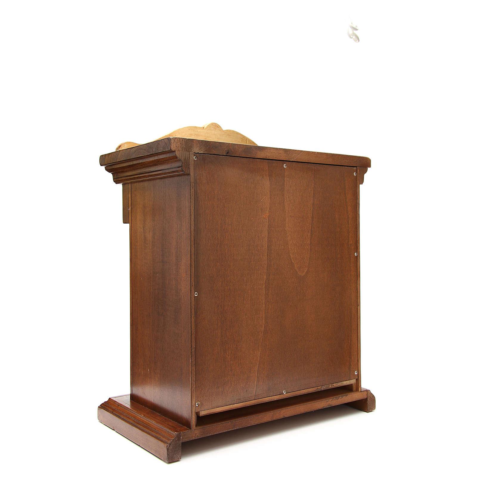 Tabernacle en bois avec chapiteau feuille or 70x45x30 4