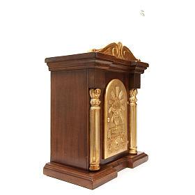 Tabernacle en bois avec chapiteau feuille or 70x45x30 s4