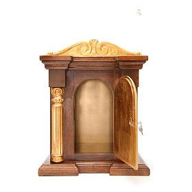 Tabernacle en bois avec chapiteau feuille or 70x45x30 s5