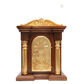 Tabernacolo legno con capitello foglia oro 70x45x30 s1