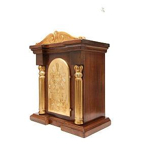 Tabernacolo legno con capitello foglia oro 70x45x30 s2