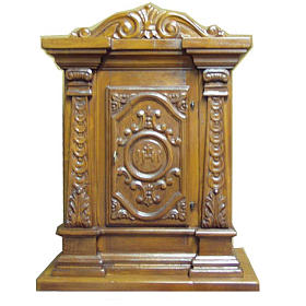 Tabernacle in carved wood 70x45x30cm s1