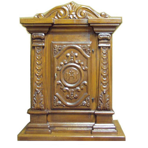 Tabernacle in carved wood 70x45x30cm 1