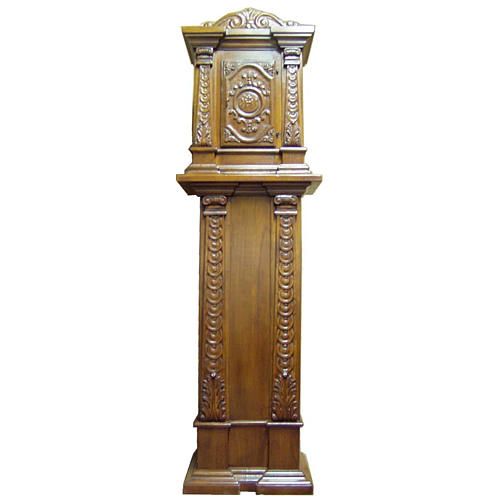 Tabernacle in carved wood with column 190x57x39cm 1