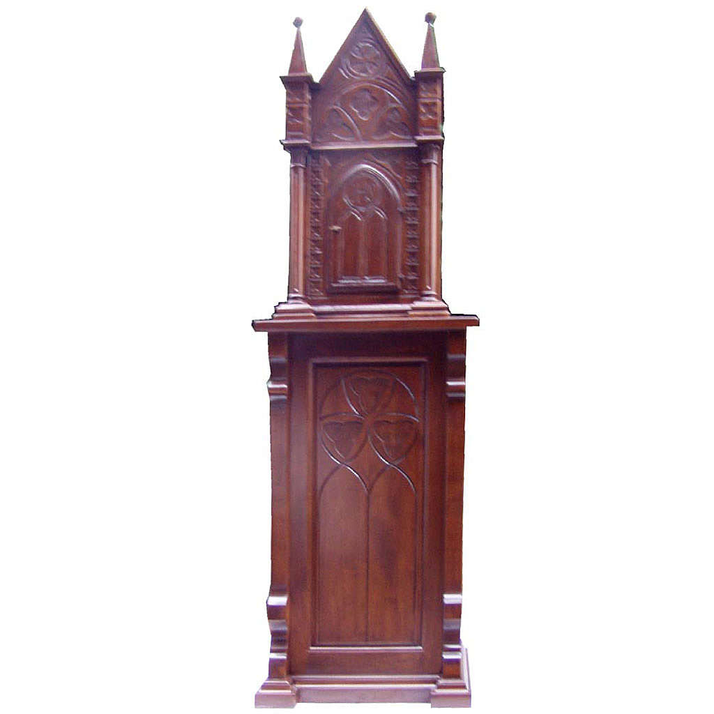Tabernacle in wood with column 200x60x40cm 4