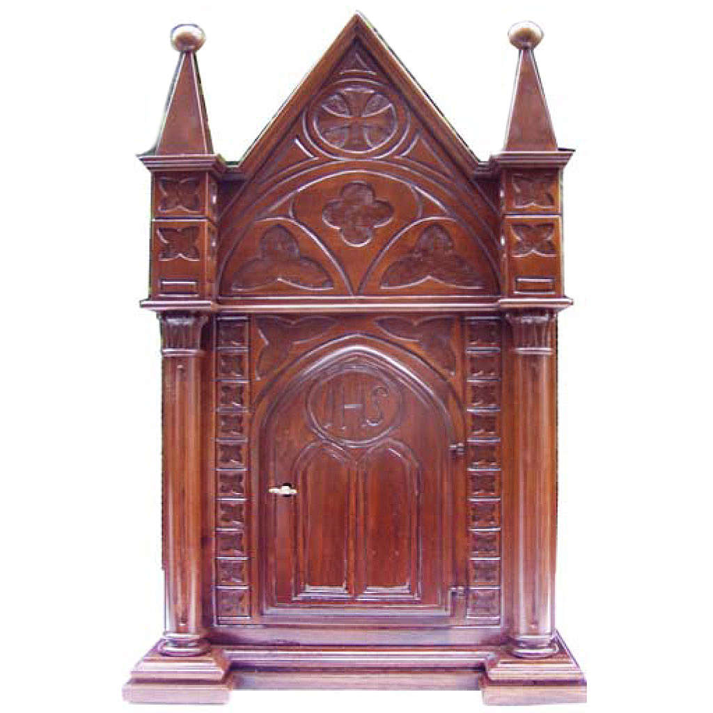 Tabernacle in wood 80x50x35cm 4