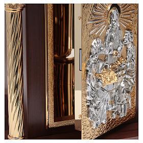Tabernacolo in legno, porta e colonne in ottone Cena Emmaus s5