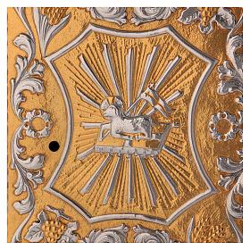 Tabernacle d'autel laiton bicolore Agneau Ange s2