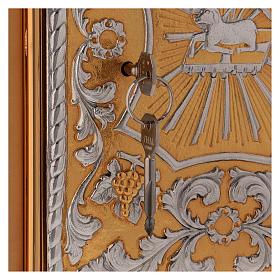 Tabernacle d'autel laiton bicolore Agneau Ange s5