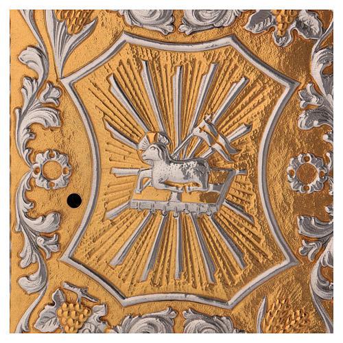 Tabernacle d'autel laiton bicolore Agneau Ange 2