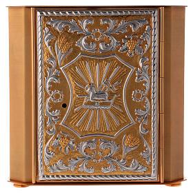 Tabernáculo de altar latão bicolor Cordeiro Anjo s1