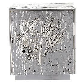 Tabernacolo da mensa ottone fuso argento uva spighe s1