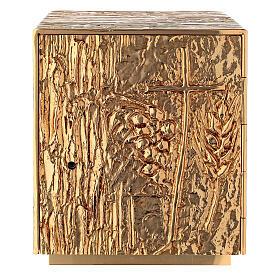 Tabernacle à poser laiton doré épis grappe croix s1