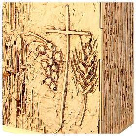 Tabernacle à poser laiton doré épis grappe croix s3