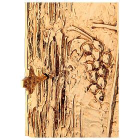 Tabernacle à poser laiton doré épis grappe croix s4