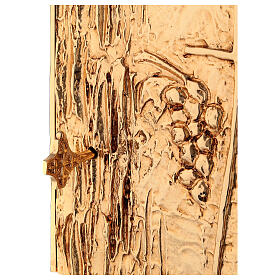 Tabernacolo da mensa ottone dorato spiga grappolo croce s4