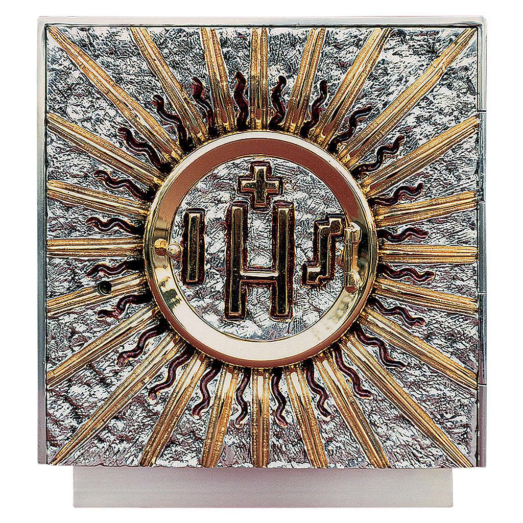Tabernacolo da mensa quadrato ottone argento oro 4