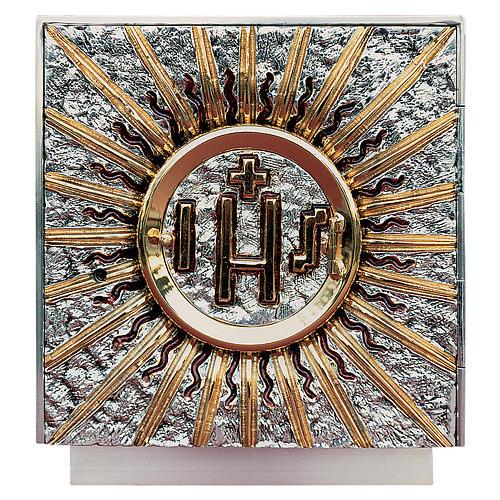 Tabernacolo da mensa quadrato ottone argento oro 1