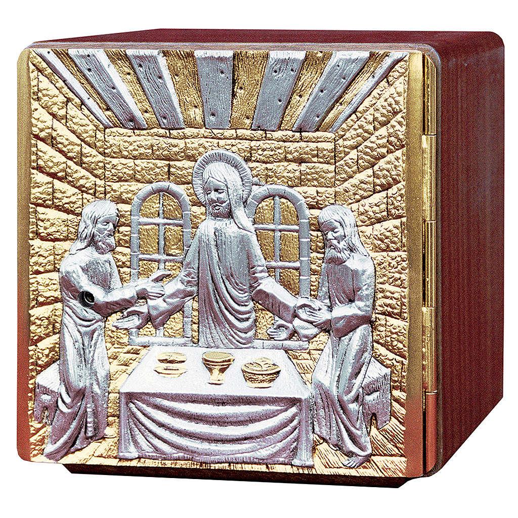 Tabernacolo da mensa legno ottone fuso Gesù apostoli 4