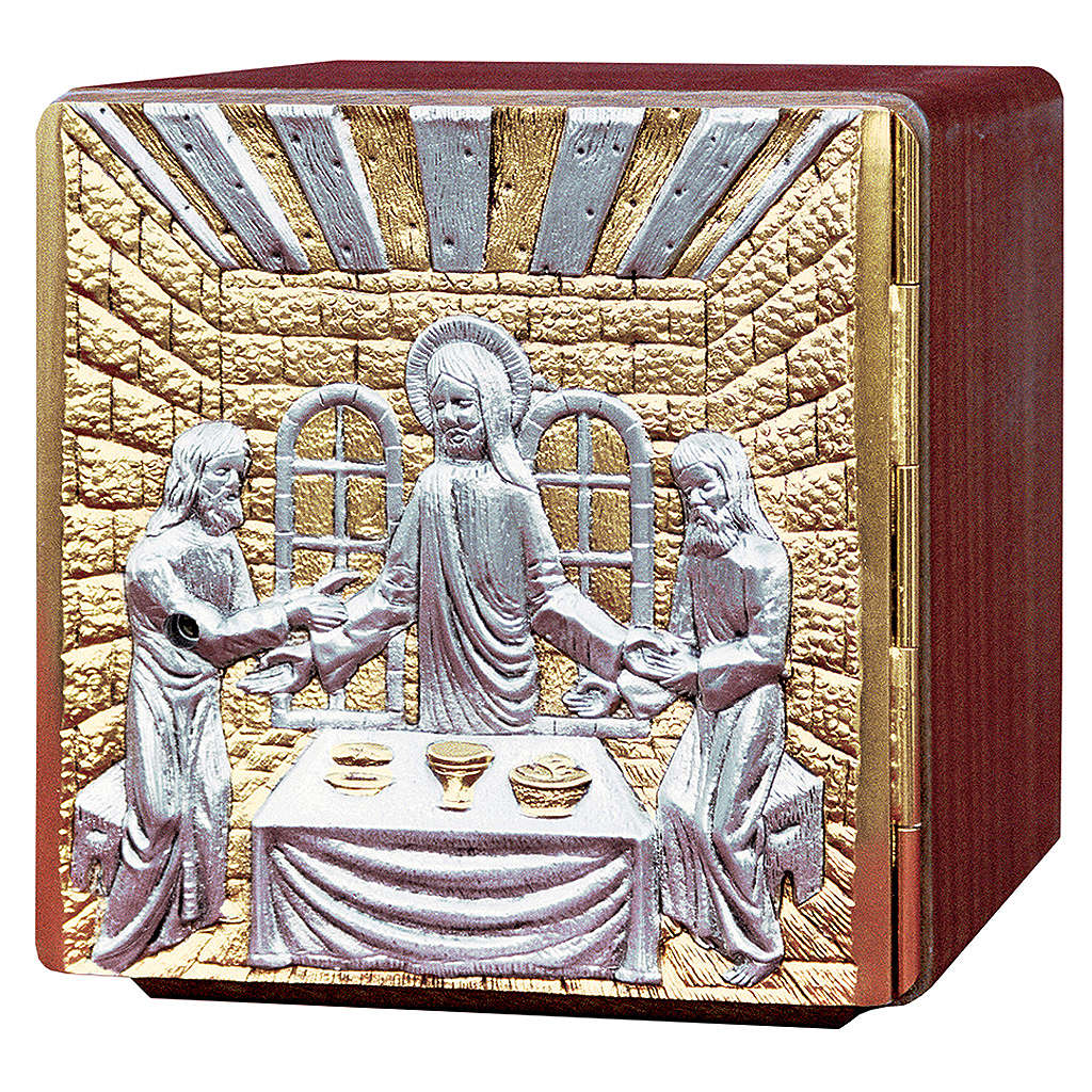 Altar tabernacle wood & melted brass, Jesus with Apostles 4