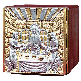 Altar tabernacle wood & melted brass, Jesus with Apostles s1