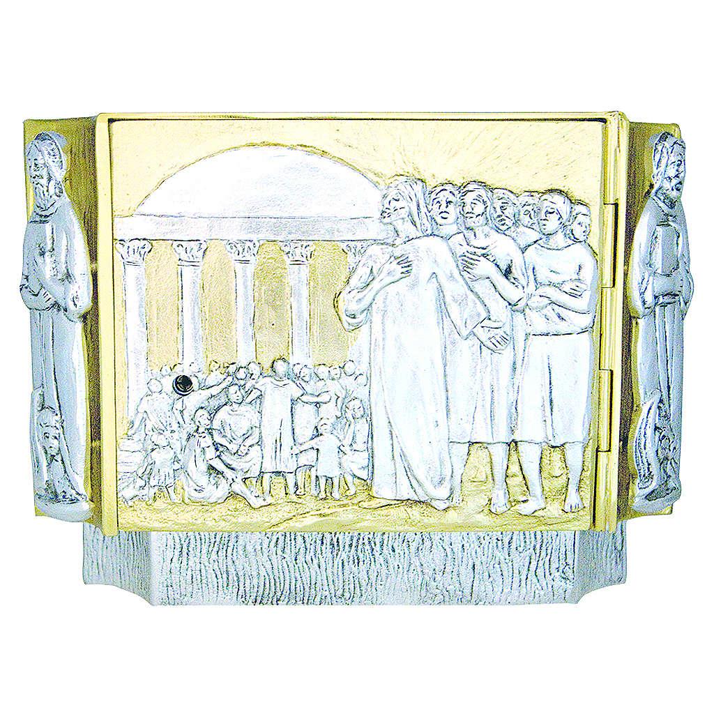 Tabernacolo ottone fuso Gesù discepoli bambini 4